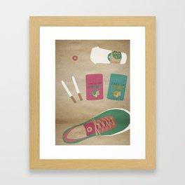 culture illustration Framed Art Print