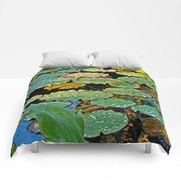 Lily Pad After a Storm Comforters