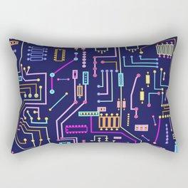 Circuits Rectangular Pillow