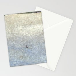 Plight of the Lonely Skier, Snowy Alpine Landscape by Cuno Amiet Stationery Cards