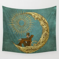 Moon Travel Wall Tapestry