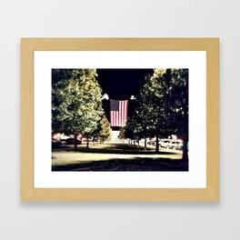 patriotism at the theater Framed Art Print