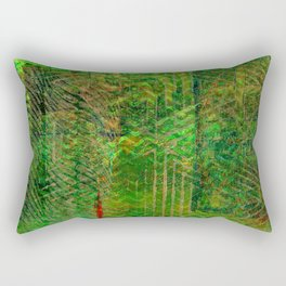 Gold caged green Rectangular Pillow