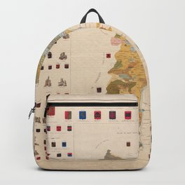 Historic Map of Alsace (1859) Backpack