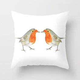 The 2 Robins Throw Pillow