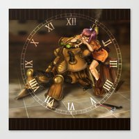 chrono trigger Canvas Prints featuring Chrono Clock by Astrobunny