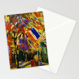 Fourteenth of July Celebration in Paris by Vincent van Gogh Stationery Cards