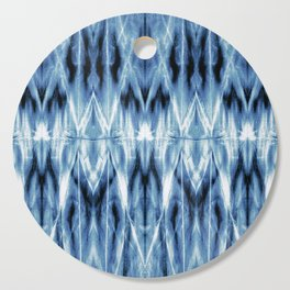 Blue Satin Shibori Argyle Cutting Board