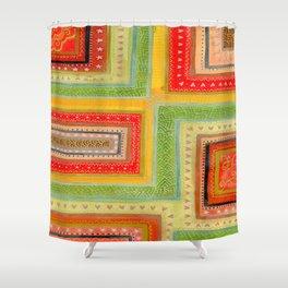 Autumnal tangle tracks Shower Curtain