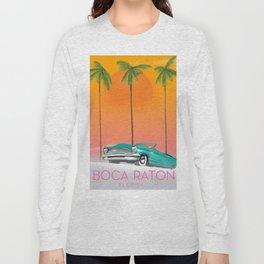 Boca Raton Florida travel poster Long Sleeve T-shirt