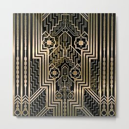 Art Nouveau Metallic design Metal Print