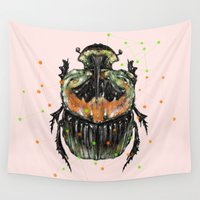 insect Wall Tapestries featuring INSECT X by dogooder
