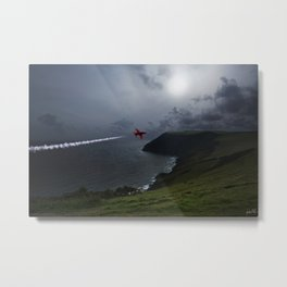 Red Arrows Air Display Metal Print
