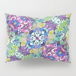 Colorful Modern Floral Print Pillow Sham