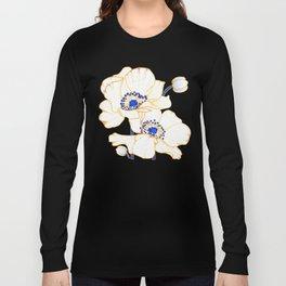 Ultramarine Blue :: Anemones Long Sleeve T-shirt