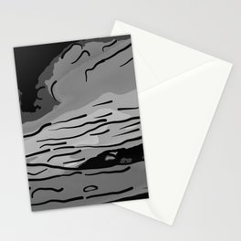abstract style aurora borealis absbw Stationery Cards