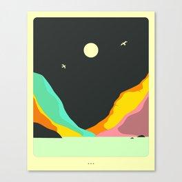 Minimal Landscape 28 (Moonrise) Canvas Print