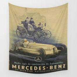 Vintage poster - Car ad Wall Tapestry