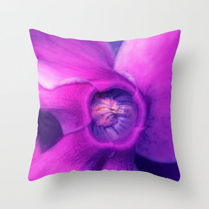 Blue, purple, pink cyclamen Throw Pillow