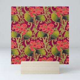 Red Carnation Floral Mini Art Print