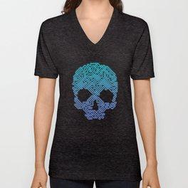 Labyrinthine Skull - Neon Unisex V-Neck