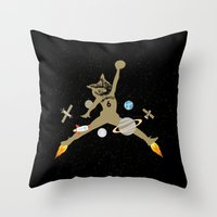 space jam Throw Pillows featuring Space Jam Owl by October's Very Own
