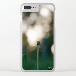 Dandelion blossom defocused Clear iPhone Case
