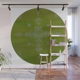 Green Mandala Wall Mural