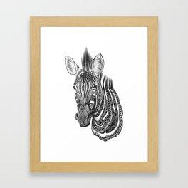 Aztec zebra Framed Art Print