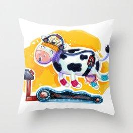Fat Free Milk Throw Pillow