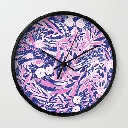 Tropical Daydream Blue Blush Wall Clock