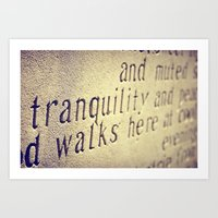 Tranquility Walks Here Art Print