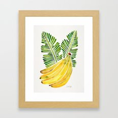 Banana Bunch – Green Leaves Framed Art Print