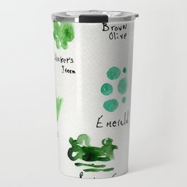 Greens -a watercolor collection of shades Travel Mug
