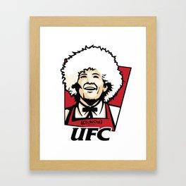 UFC-KFC Khabib Nurmagomedov Framed Art Print