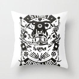Street Rebellion Throw Pillow
