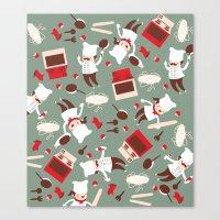 chef Canvas Prints featuring  Chef pattern by Maria Jose Da Luz