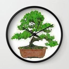Japanese Bonsai Tree Wall Clock