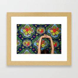 stretching Framed Art Print
