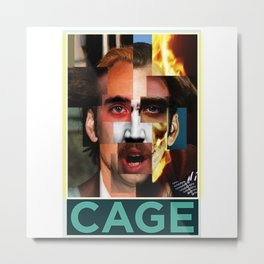 Nicolas Cage Movie Faces | Funny Meme | Nic Cage Face | Gift For Men, Woman Metal Print
