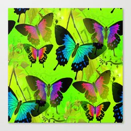 Painted Lady and Morph Butterflies Canvas Print