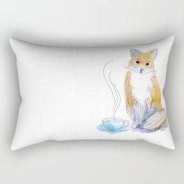 Foxy Tea Rectangular Pillow