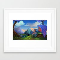 dragons Framed Art Prints featuring Dragons by Leksotiger