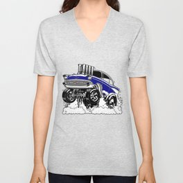 57 Gasser REV-3 BLUE Unisex V-Neck