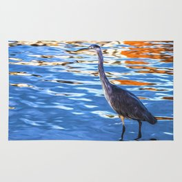 Crane on the River Shannon Rug