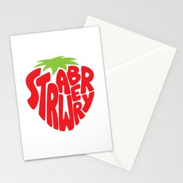 Typo' Strawberry Stationery Cards