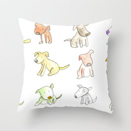 Little Cute Dogs Throw Pillow