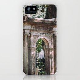 Arch at Bonaventure Cemetery iPhone Case
