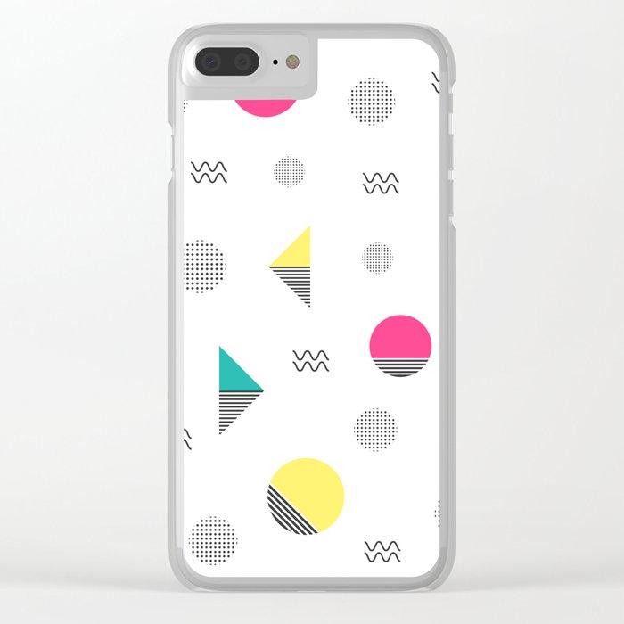 Geometria pattern Clear iPhone Case