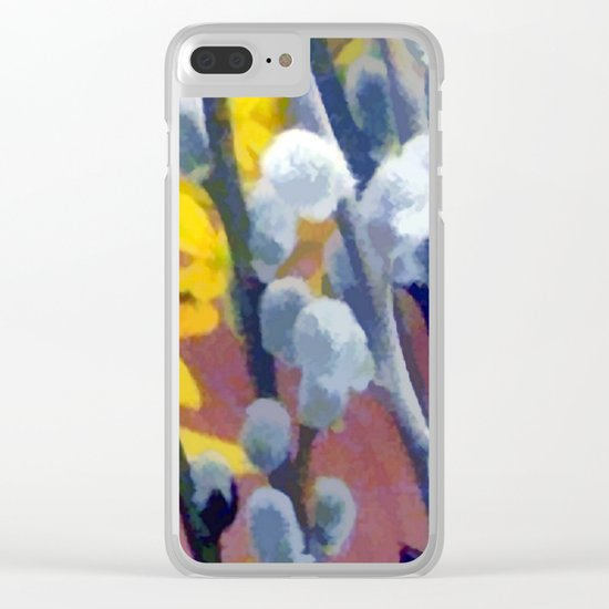 Pussy Willow Clear iPhone Case